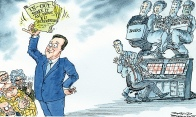 Cartoon by David Simonds. Cameron prepares for an in/out referendum on Europe.