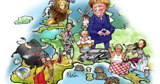 CartoonsSatirical-cartoon-of-stereotypical-Europe