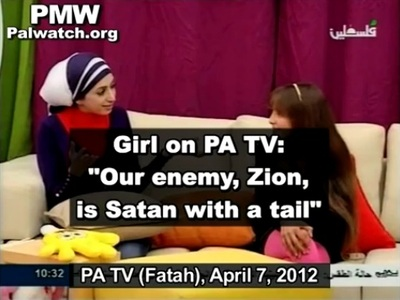 Incitement on TV for the Palestinians