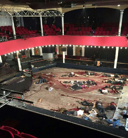 Inside Bataclan Concert Hall Aftermath Photo