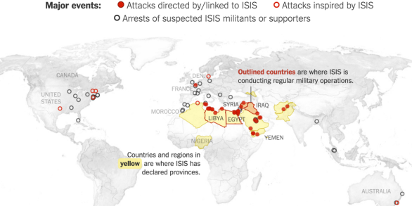 History of ISIS Attacks