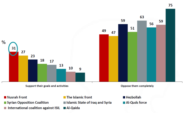 Support terrorists in Syria and Iraq