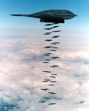 B-2 spirit bombing