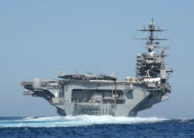 The Nimitz-class aircraft carrier USS Theodore Roosevelt