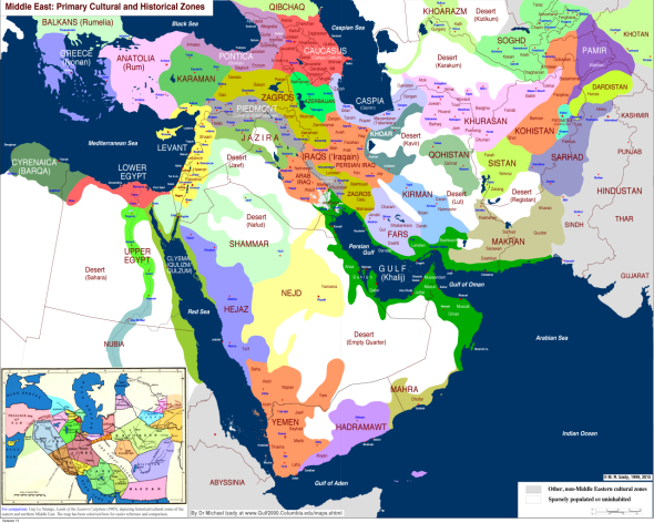 Middle Eastern Historical zones