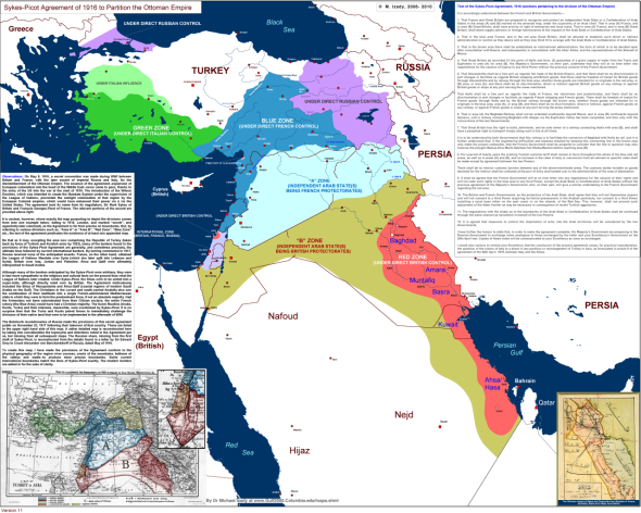Sykes-Picot Agreement's map