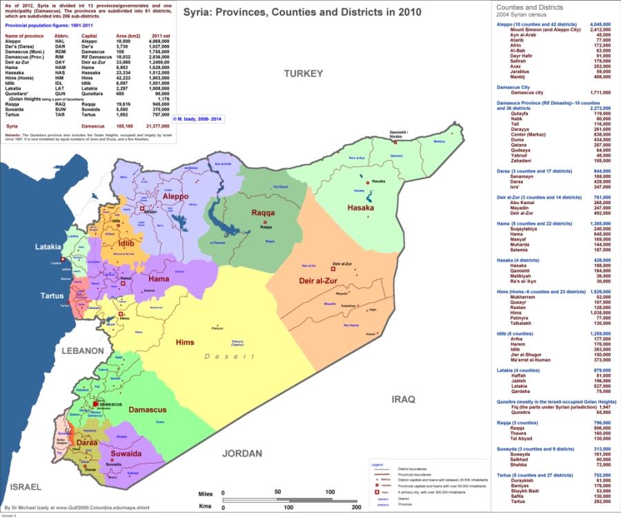 Syria, Administrative Map