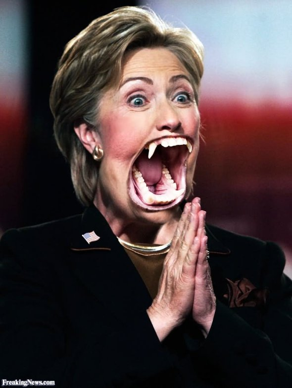 Funny-Hillary-Clinton-With-Fangs-Picture
