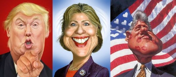 Donald, Hillary and Bill