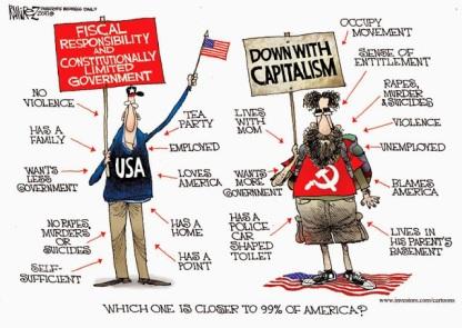 Cartoon - Tea Party Vs Communism