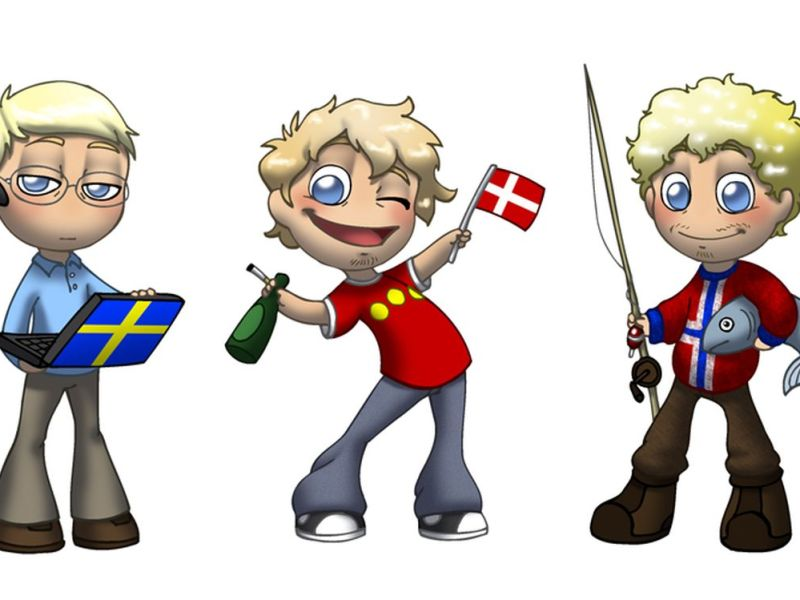 Sweden, Denmark and Norway